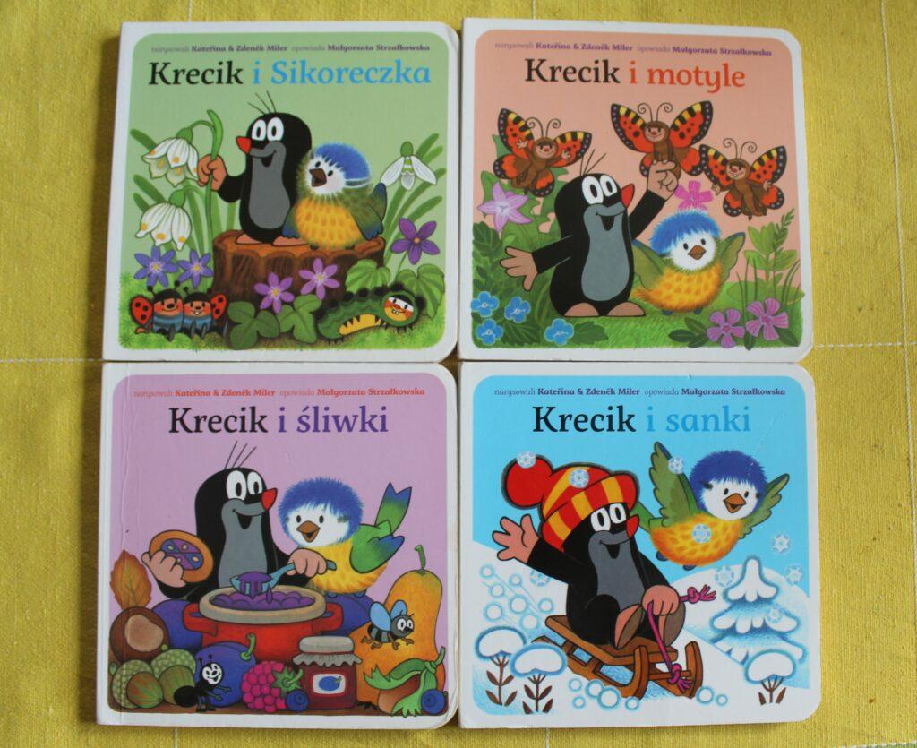 książki dla niemowlaków - seria o Kreciku